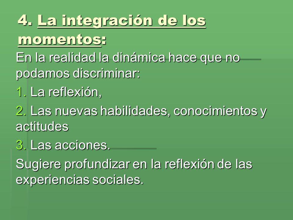4. La integración de los momentos: