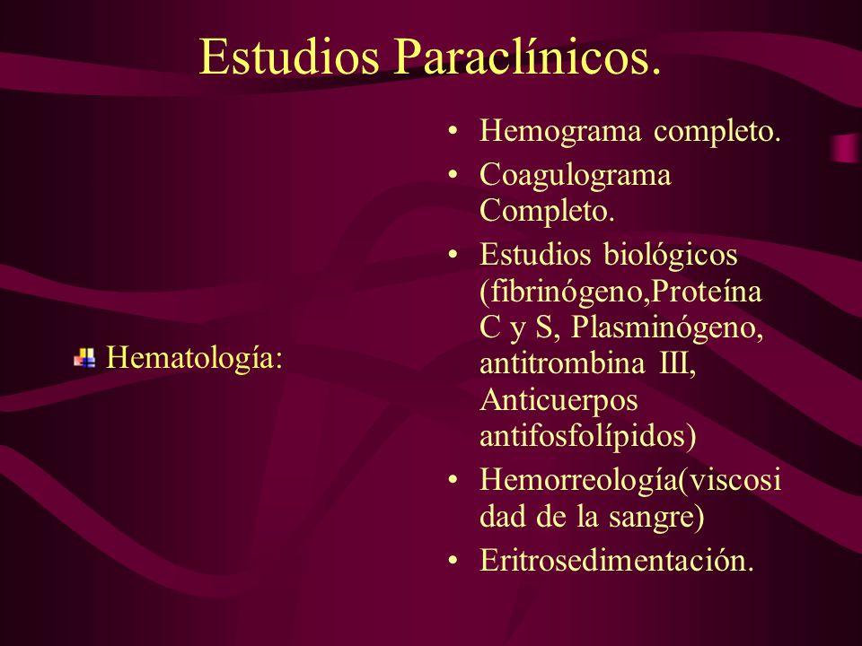 Estudios Paraclínicos.