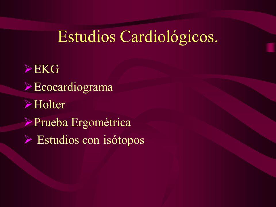 Estudios Cardiológicos.