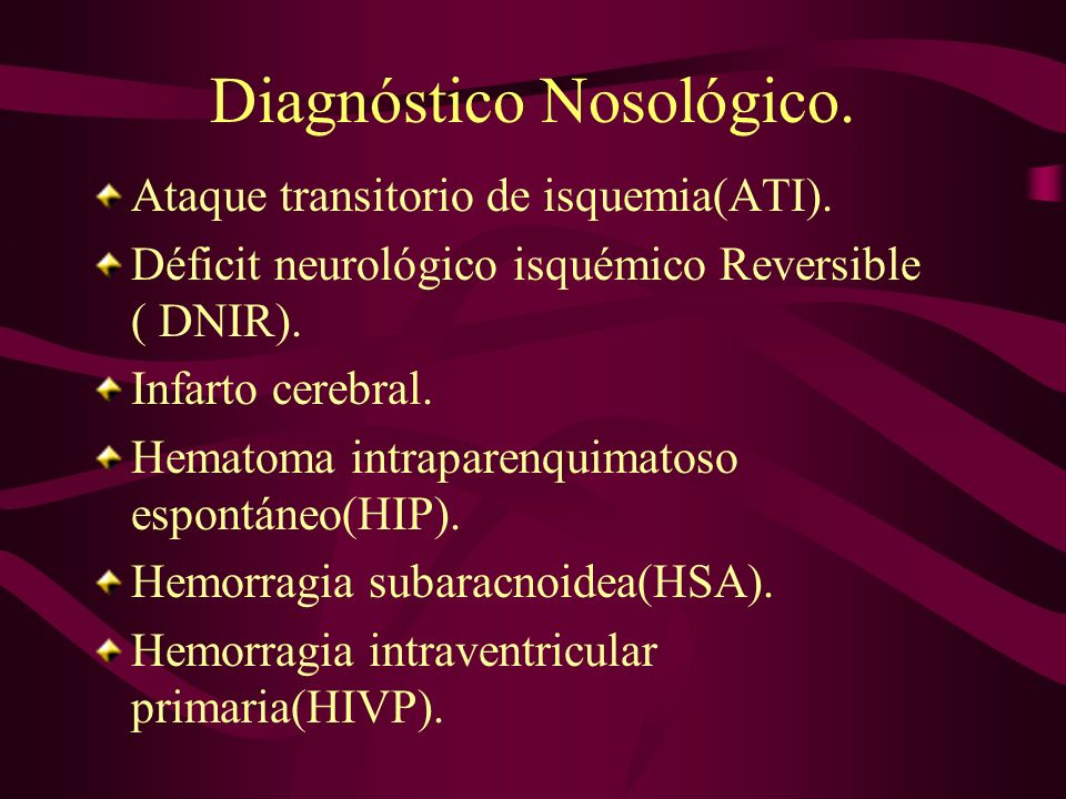 Diagnóstico Nosológico.