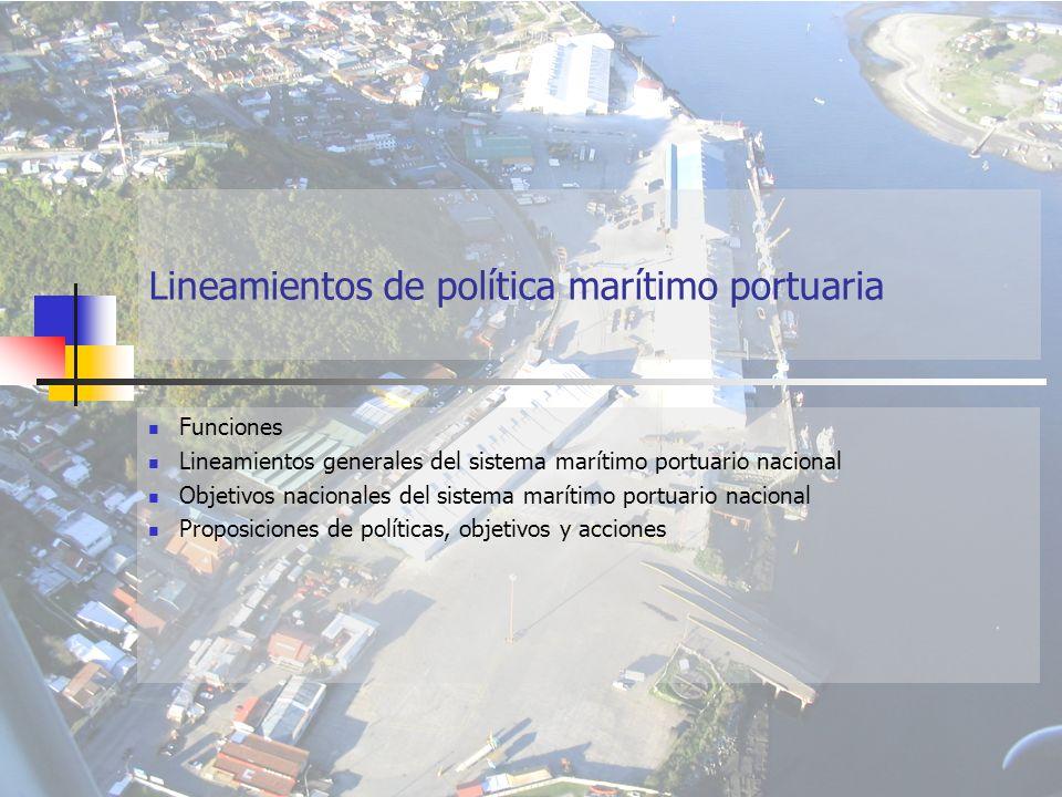 Lineamientos de política marítimo portuaria