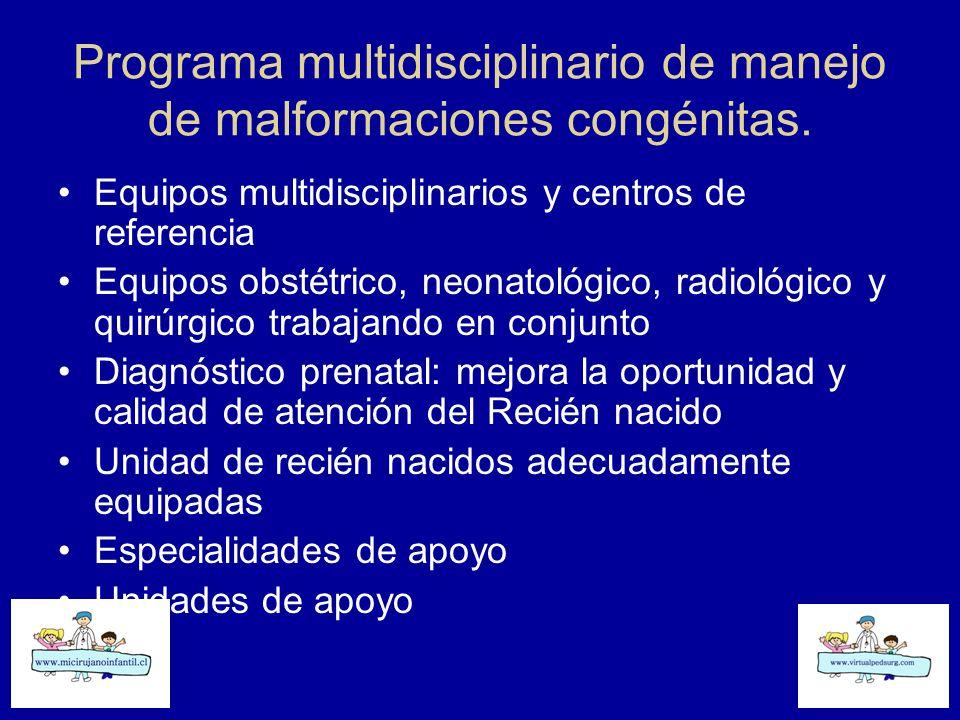 Programa multidisciplinario de manejo de malformaciones congénitas.