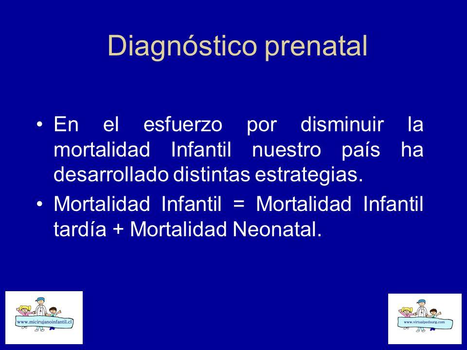 Diagnóstico prenatal En el esfuerzo por disminuir la mortalidad Infantil nuestro país ha desarrollado distintas estrategias.