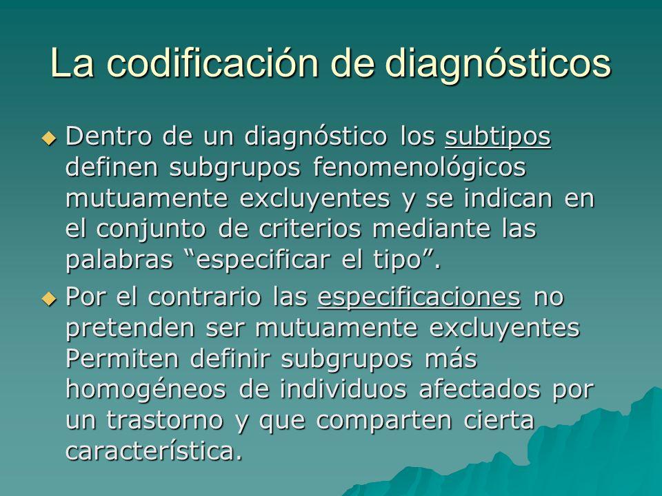 La codificación de diagnósticos