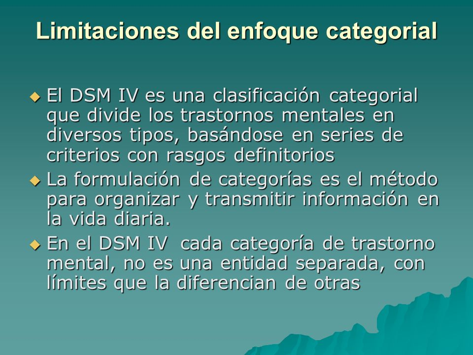Limitaciones del enfoque categorial