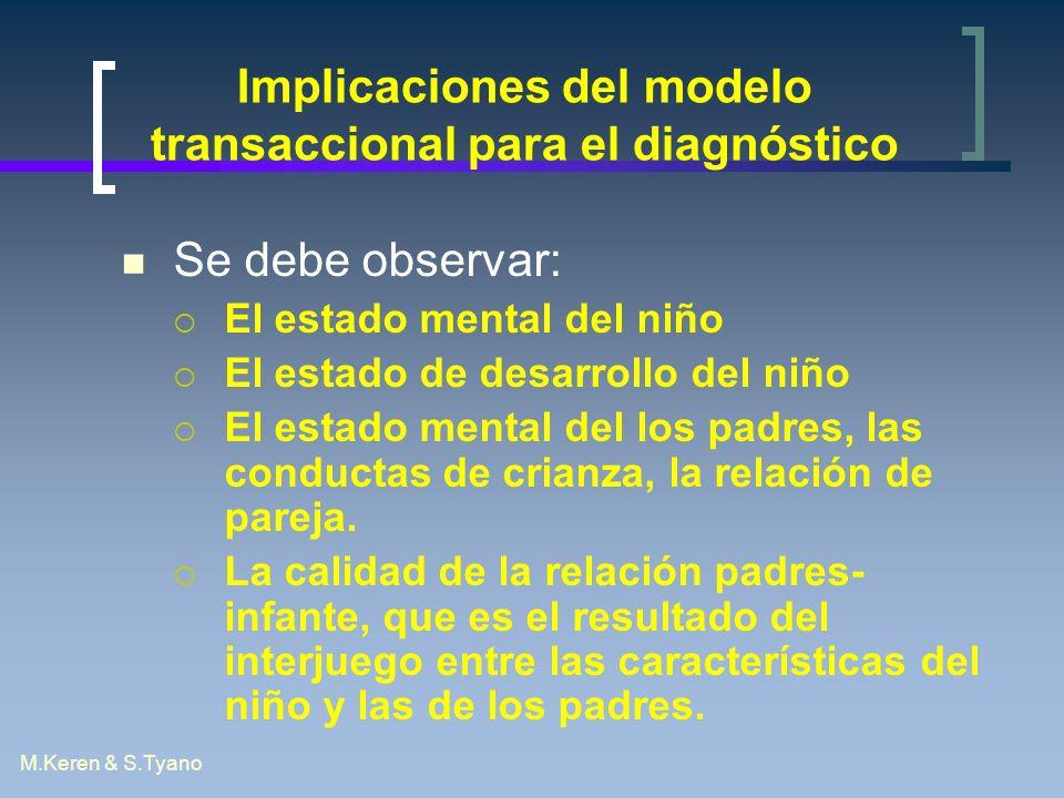 Implicaciones del modelo transaccional para el diagnóstico