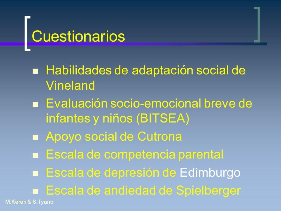 Cuestionarios Habilidades de adaptación social de Vineland