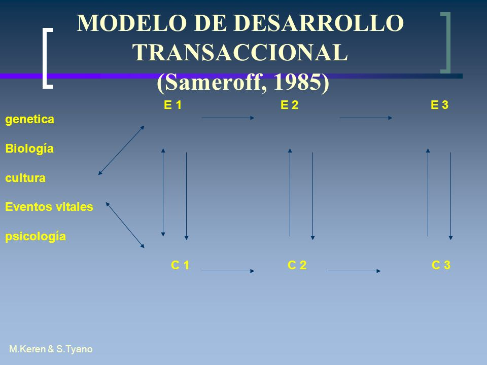 MODELO DE DESARROLLO TRANSACCIONAL (Sameroff, 1985)