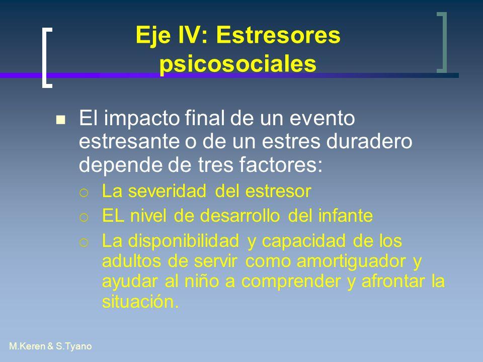 Eje IV: Estresores psicosociales