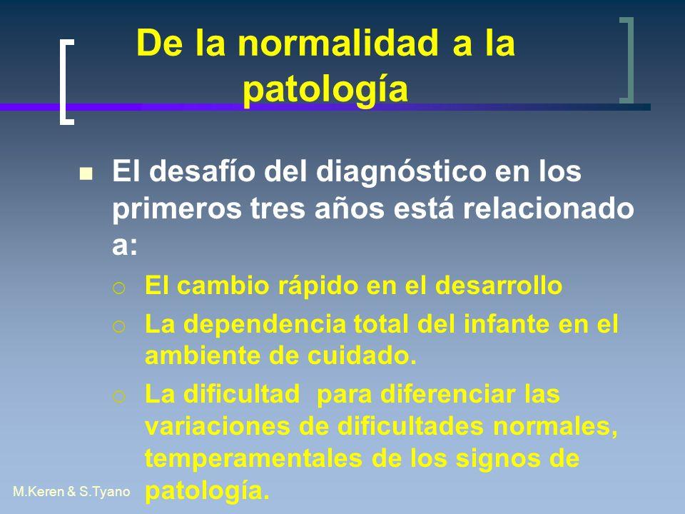 De la normalidad a la patología