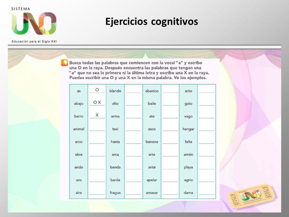 Ejercicios cognitivos