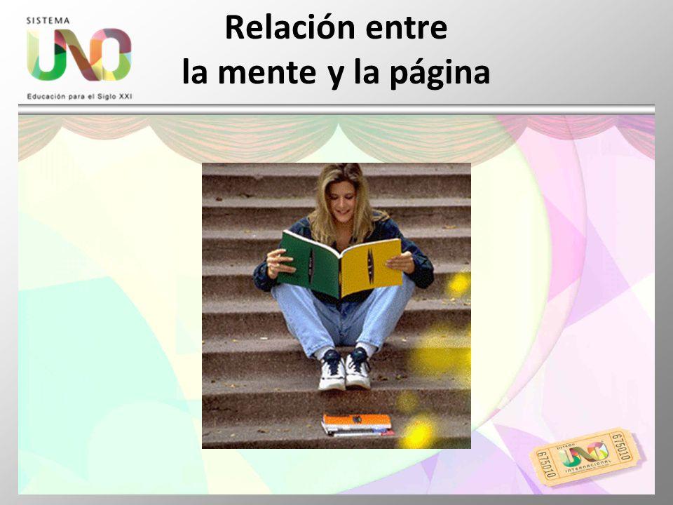 Relación entre la mente y la página