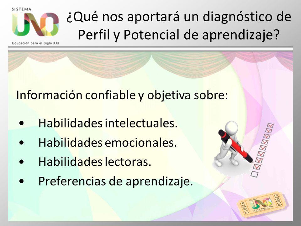 ¿Qué nos aportará un diagnóstico de Perfil y Potencial de aprendizaje