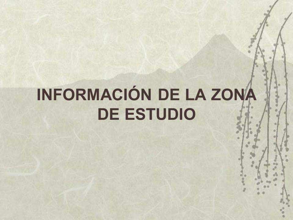INFORMACIÓN DE LA ZONA DE ESTUDIO