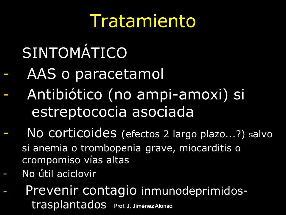 Tratamiento SINTOMÁTICO AAS o paracetamol