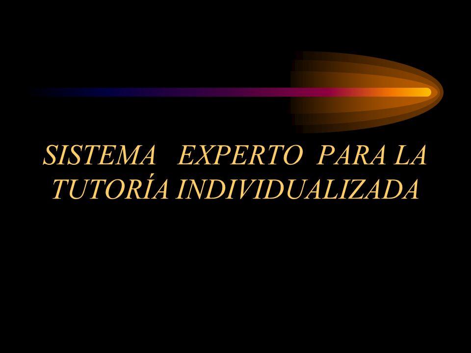 SISTEMA EXPERTO PARA LA TUTORÍA INDIVIDUALIZADA