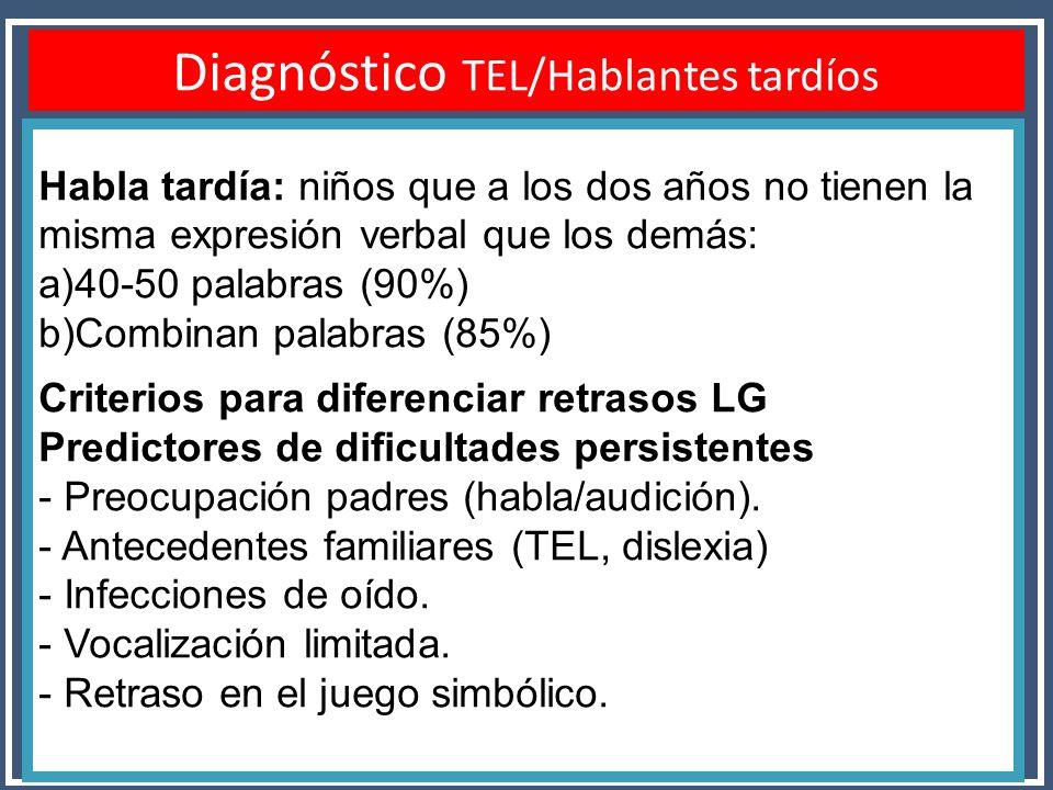 Diagnóstico TEL/Hablantes tardíos