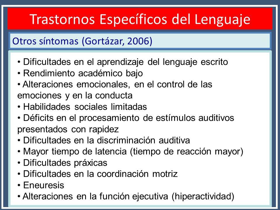 Trastornos Específicos del Lenguaje