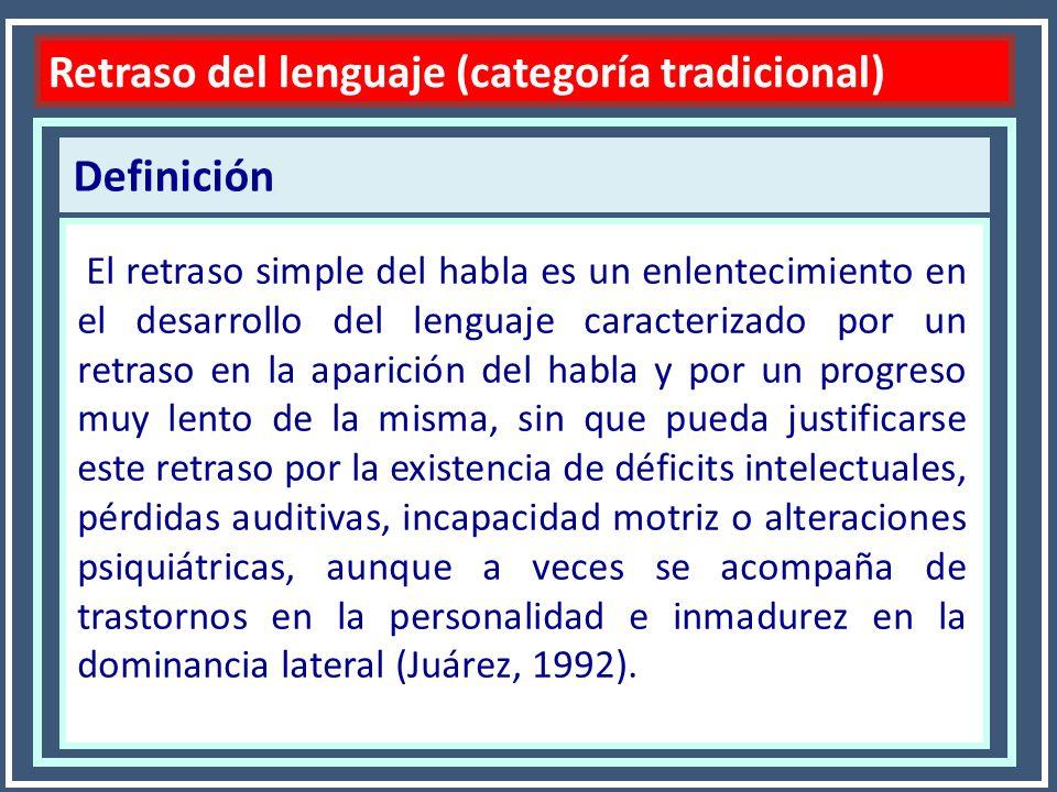 Retraso del lenguaje (categoría tradicional)
