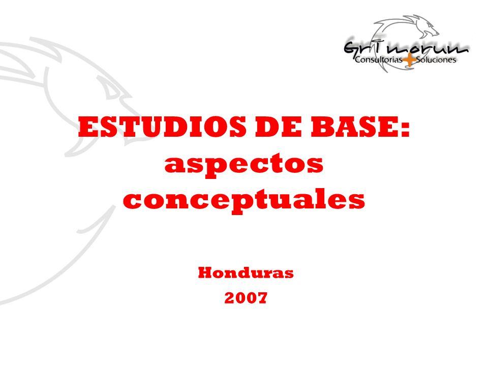 ESTUDIOS DE BASE: aspectos conceptuales