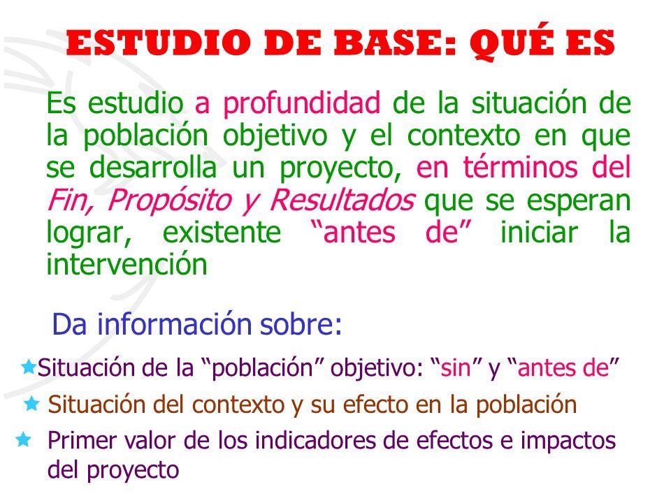 ESTUDIO DE BASE: QUÉ ES