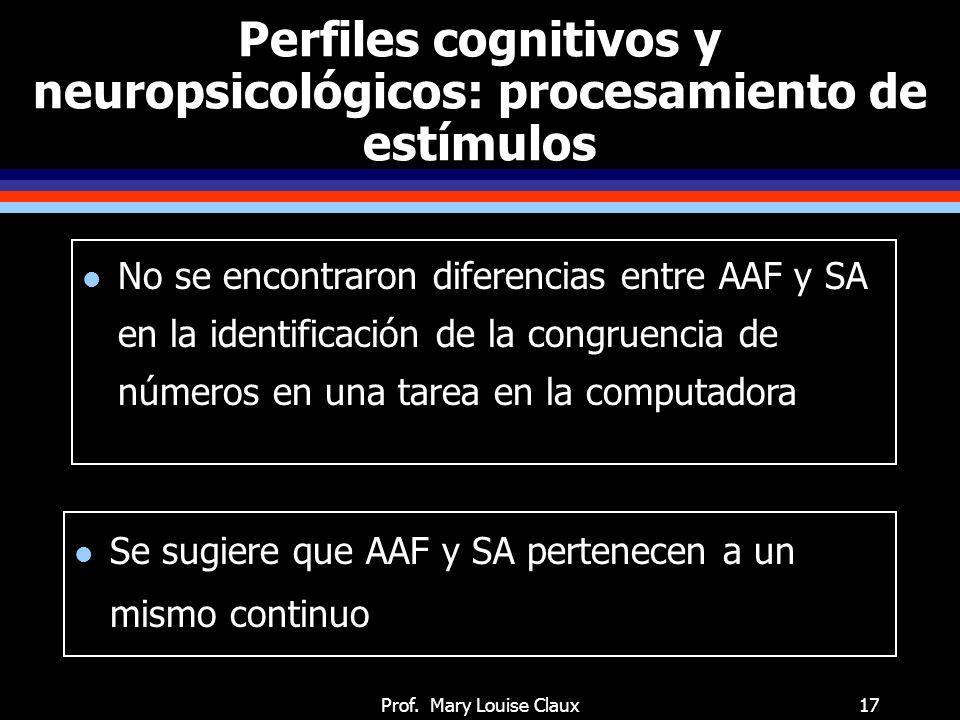 Perfiles cognitivos y neuropsicológicos: habilidades de cognición social
