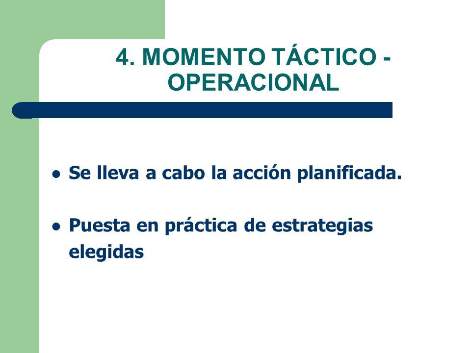 4. MOMENTO TÁCTICO - OPERACIONAL