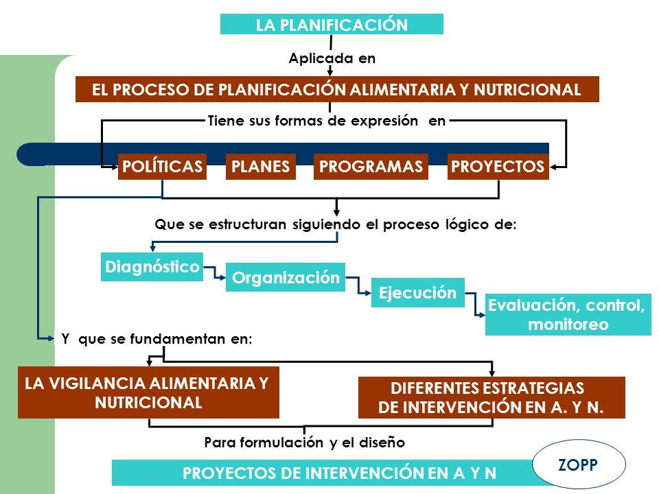 EL PROCESO DE PLANIFICACIÓN ALIMENTARIA Y NUTRICIONAL