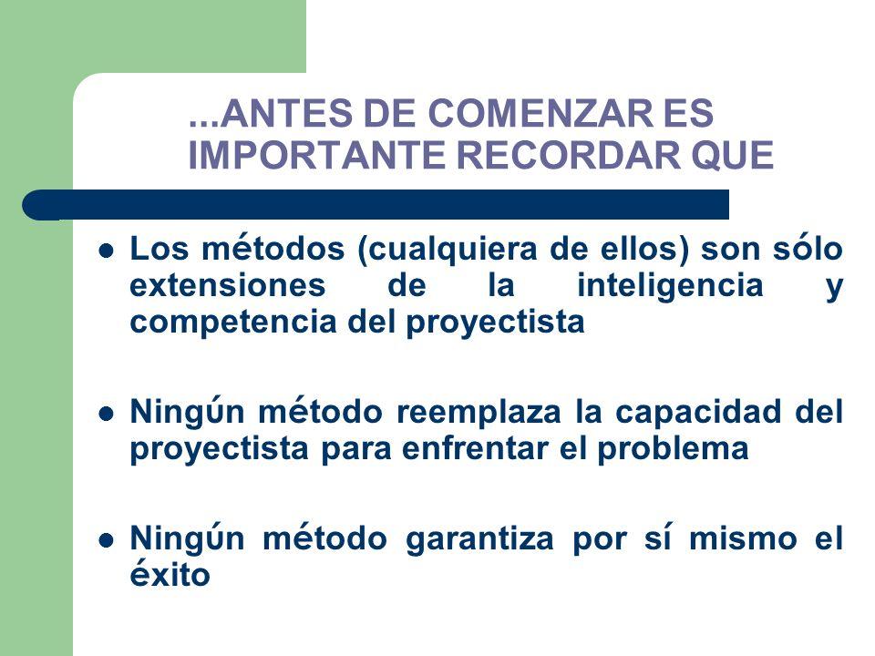...ANTES DE COMENZAR ES IMPORTANTE RECORDAR QUE