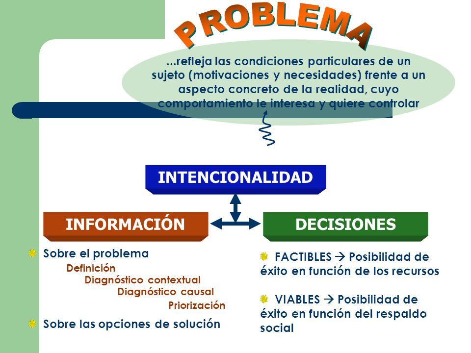 PROBLEMA INTENCIONALIDAD INFORMACIÓN DECISIONES