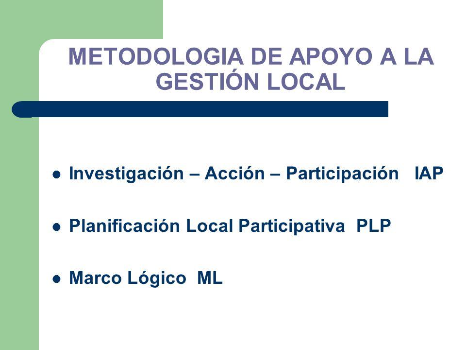 METODOLOGIA DE APOYO A LA GESTIÓN LOCAL