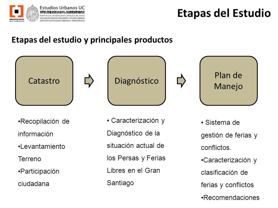 Etapas del Estudio Etapas del estudio y principales productos Catastro