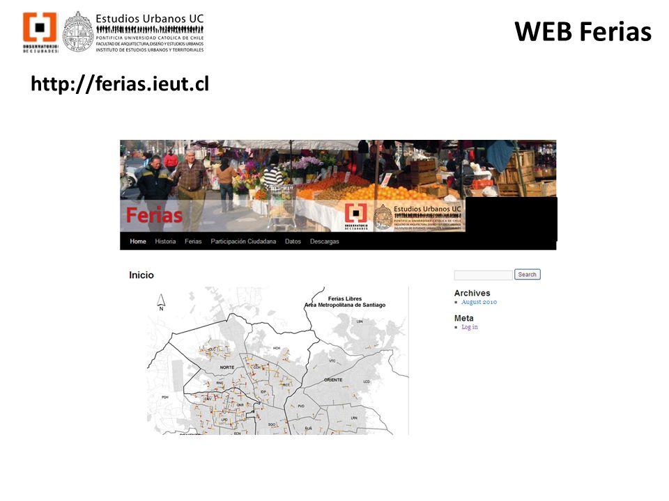 WEB Ferias http://ferias.ieut.cl