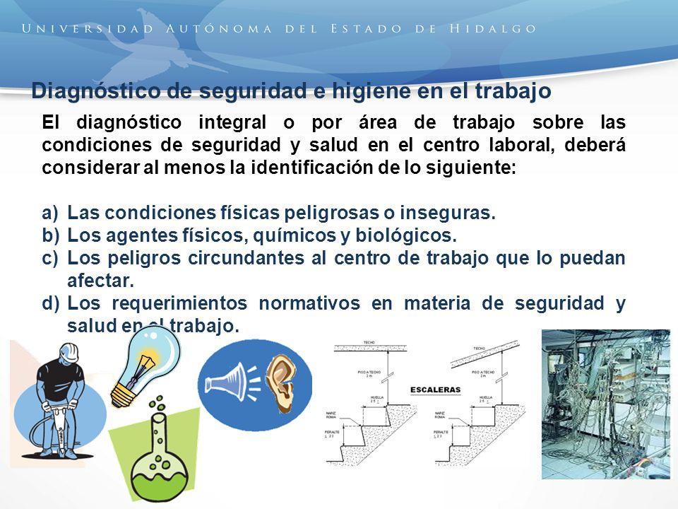 Diagnóstico de seguridad e higiene en el trabajo
