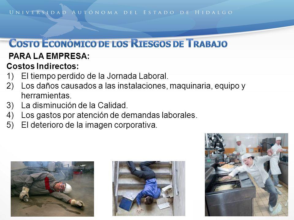 COSTO ECONÓMICO DE LOS RIESGOS DE TRABAJO