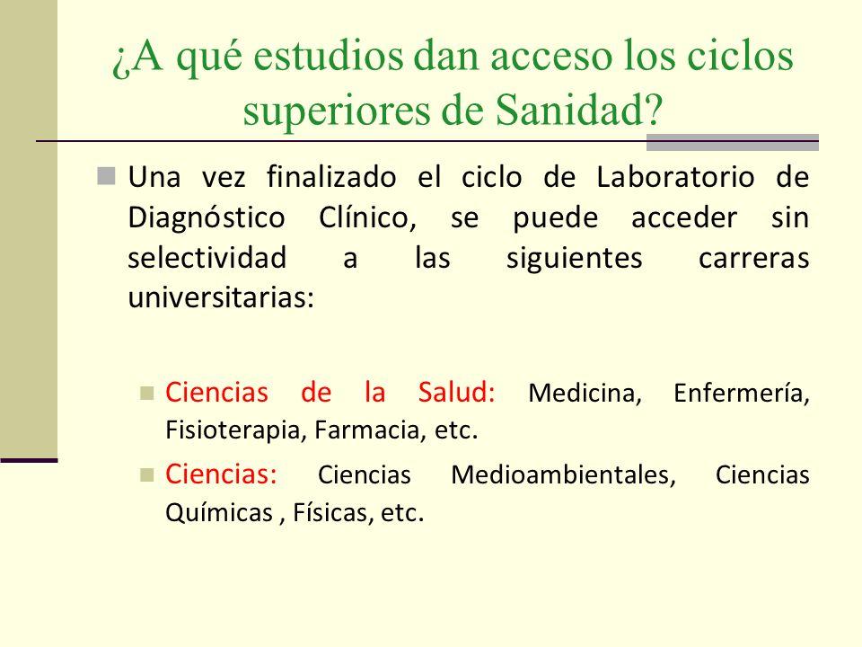 ¿A qué estudios dan acceso los ciclos superiores de Sanidad