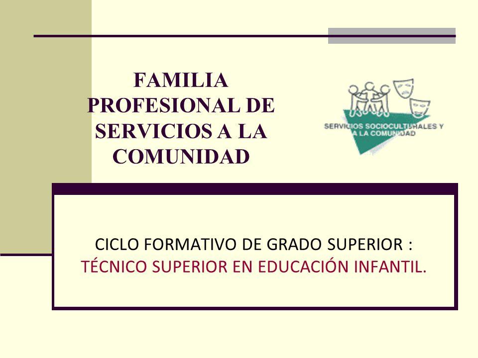 FAMILIA PROFESIONAL DE SERVICIOS A LA COMUNIDAD