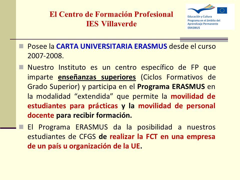 El Centro de Formación Profesional IES Villaverde