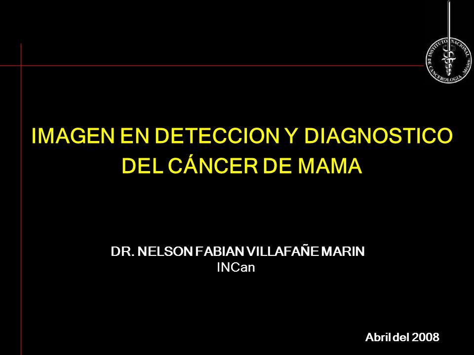 IMAGEN EN DETECCION Y DIAGNOSTICO DEL CÁNCER DE MAMA
