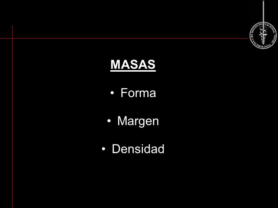 MASAS Forma Margen Densidad ACR BI-RADS 2003