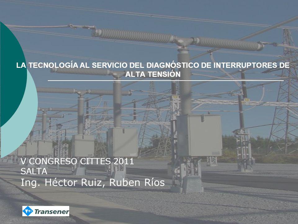 V CONGRESO CITTES 2011 SALTA Ing. Héctor Ruiz, Ruben Ríos