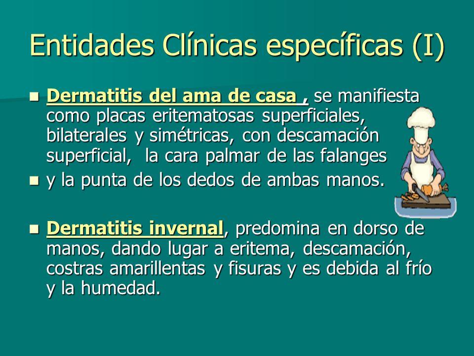 Entidades Clínicas específicas (I)