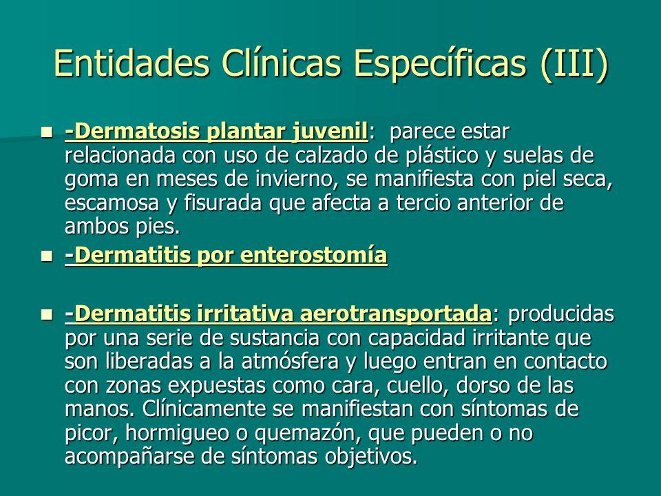 Entidades Clínicas Específicas (III)
