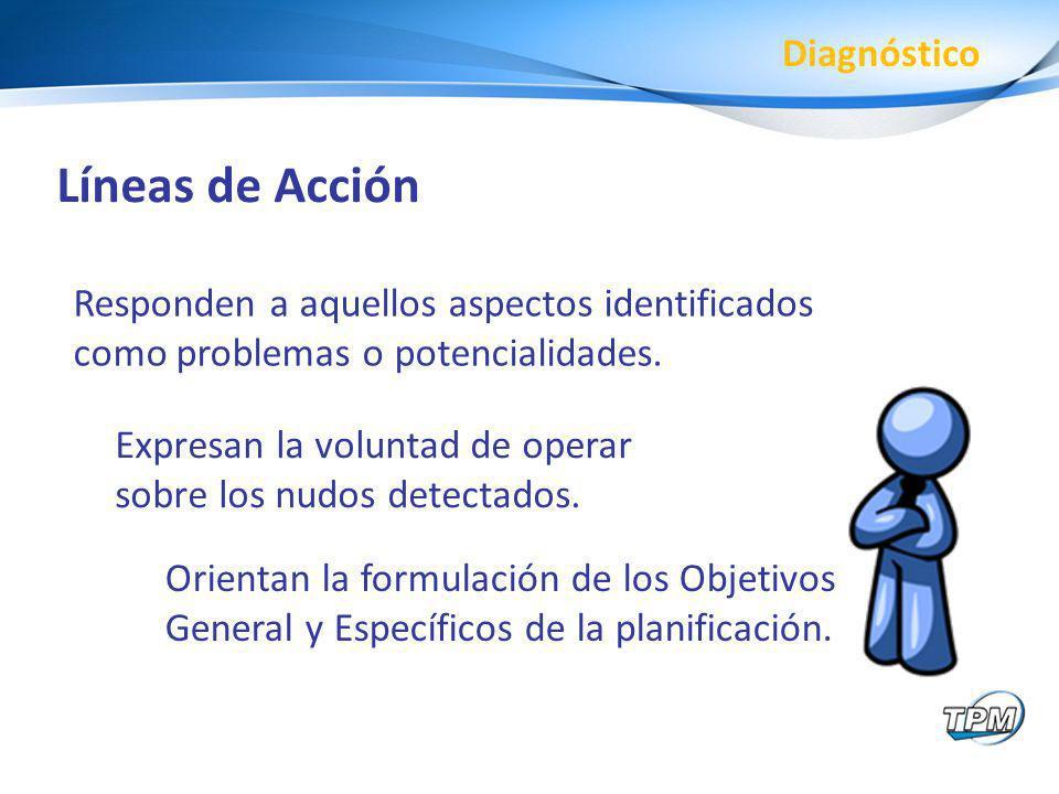 Líneas de Acción Diagnóstico
