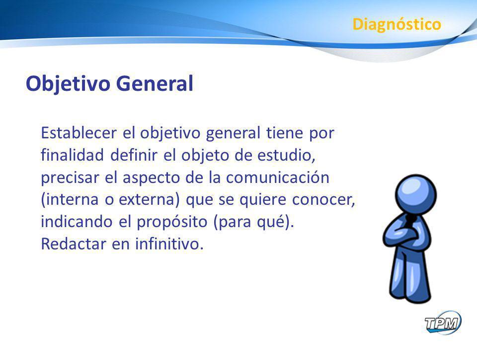 Objetivo General Diagnóstico