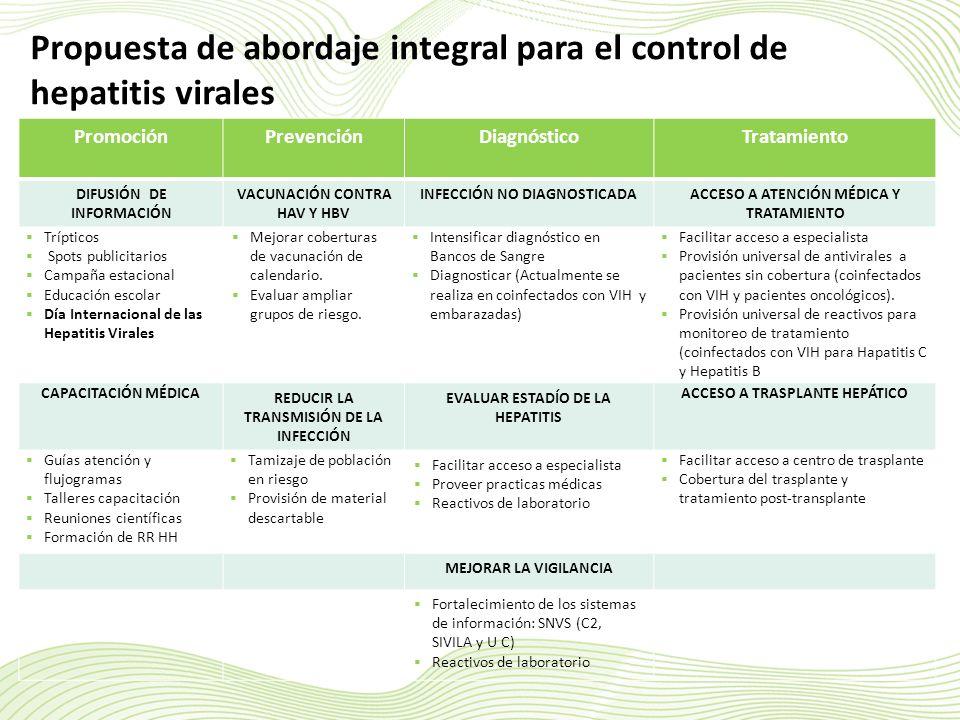 Propuesta de abordaje integral para el control de hepatitis virales