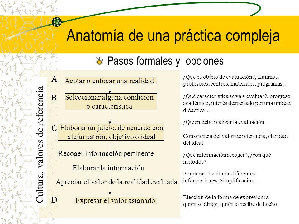 Anatomía de una práctica compleja