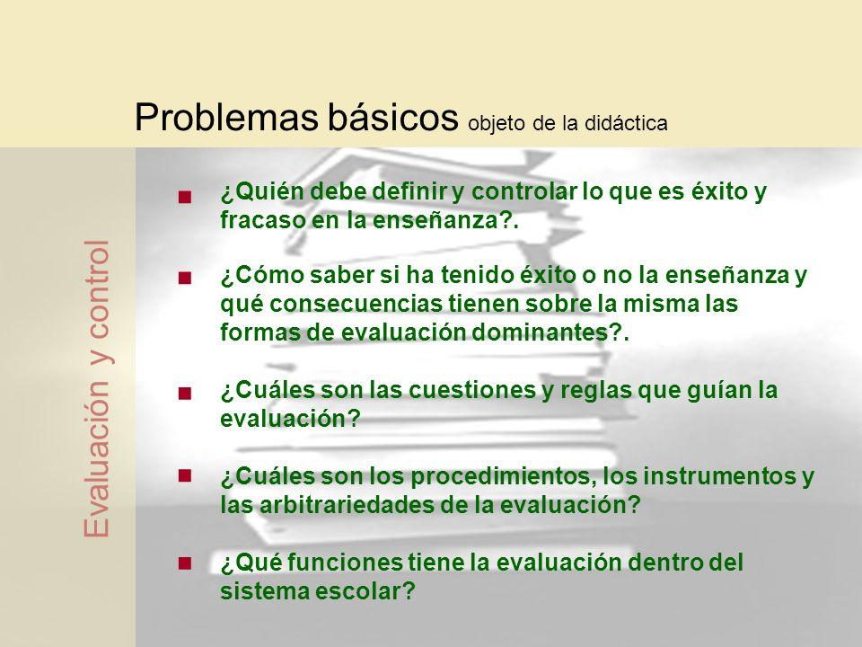 Problemas básicos objeto de la didáctica