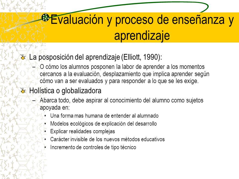 Evaluación y proceso de enseñanza y aprendizaje