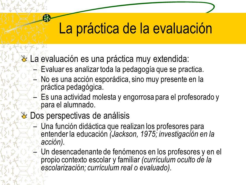 La práctica de la evaluación